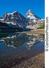 assiniboine, monte, rockies, canadiense