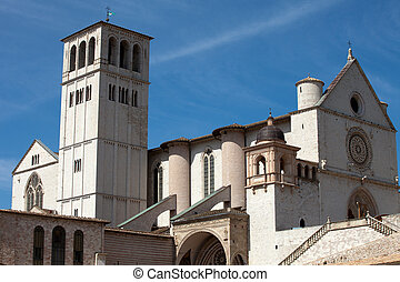 assisi, イタリア, バシリカ, 聖者, francis
