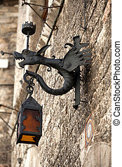 Assisi - old street lamp