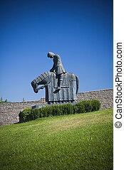 assisi., st. 。, francesco, knight., umbria.