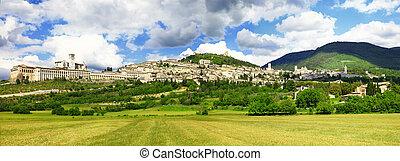 assisi, umbria, イタリア, 町, 中世