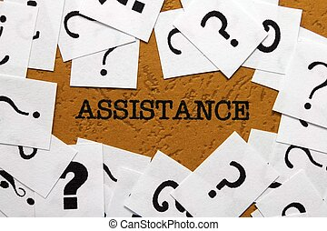 Assistance and question mark
