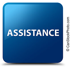 Assistance blue square button