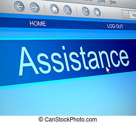 assistance, concept.
