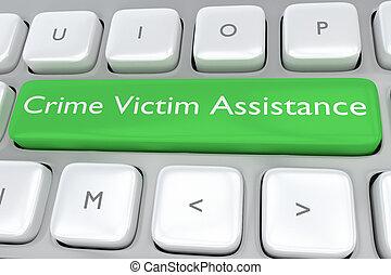 assistance, concept, victime, crime