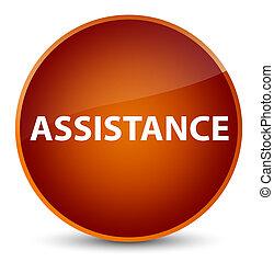 Assistance elegant brown round button