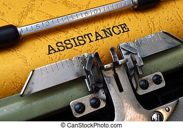 Assistance on typewriter