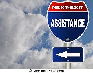 assistance, panneaux signalisations