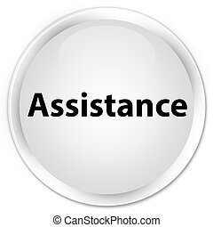 Assistance premium white round button