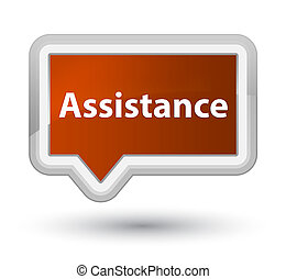 Assistance prime brown banner button