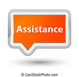 Assistance prime orange banner button