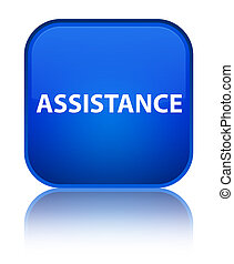 Assistance special blue square button