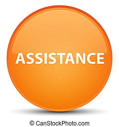 Assistance special orange round button