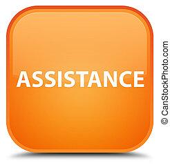 Assistance special orange square button