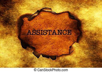 Assistance  text on paper hole