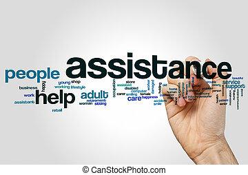 Assistance word cloud concept