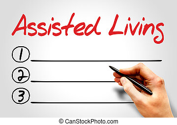 Assisted Living blank list concept