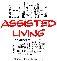 Assisted Living Concept in Red and Black