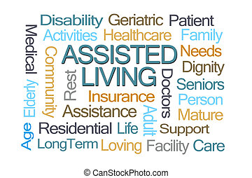 Assisted Living Word Cloud