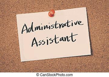 assistente, administrativo