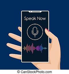assistente, smartphone, voz
