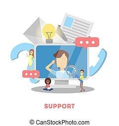 assistenza clienti, assistenza tecnica, idea, concept.