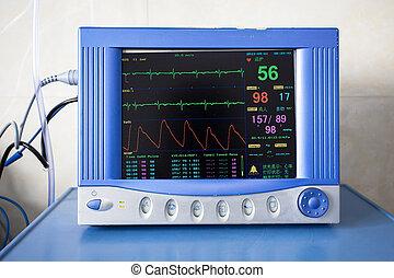 assistenza sanitaria, portatile, apparecchiatura controllo
