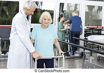 Assistere, paziente, dottore,  ST, femmina, idoneità, camminatore, anziano