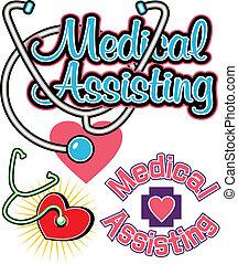 assistieren, medizin, entwürfe