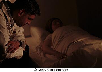 assisting, врач, пациент, ночь
