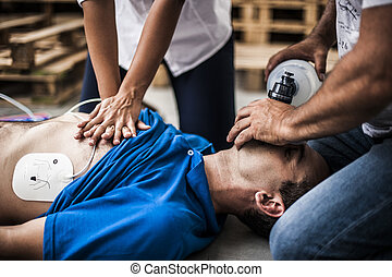 assisting, rescuers, cpr