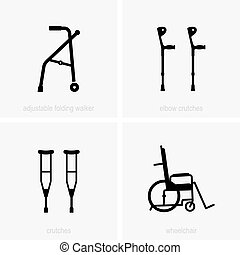 Assistive device icons