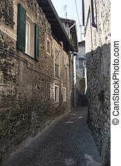 Asso (Como, Italy), typical old street