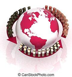 associé, conception, mondiale, concorde
