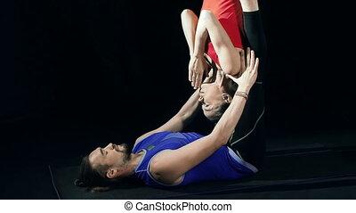 associé, séance entraînement, yoga