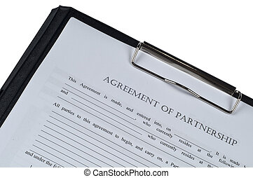 associate aggrement form on isolated white background form