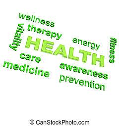 associating, hälsa, någon, mänsklig, ord