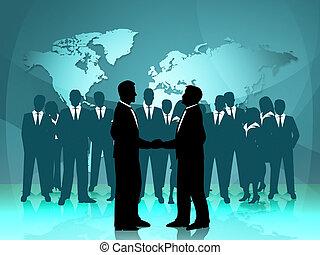 association, moyens, travail, ensemble, coopération, mondiale