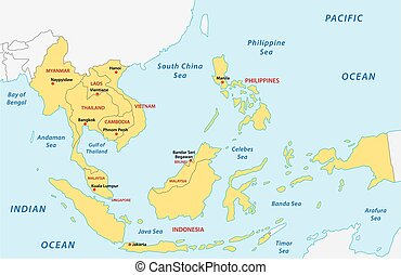 Association of southeast asian nations (ASEAN) map