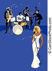 assolo, concerto jazz, banda