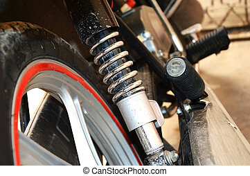 assorbitore, scossa, motocicletta