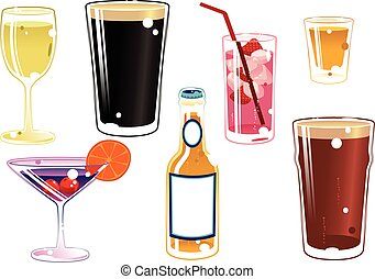 Assorted alcoholic drinks