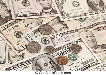 American coins and banknotes