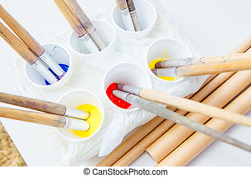Assorted Arts and Craft Supplies