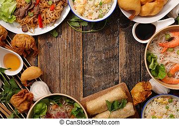 assorted asian cuisine