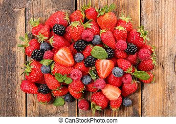 assorted berries fruits