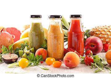 assorted bottle of fruit juice