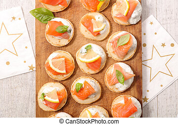 assorted canape for dining