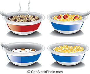 Assorted cereal - Illustration of assorted cold breakfast...