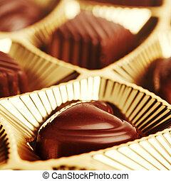 assorted chocolate truffles - Delicious dark, milk, and...